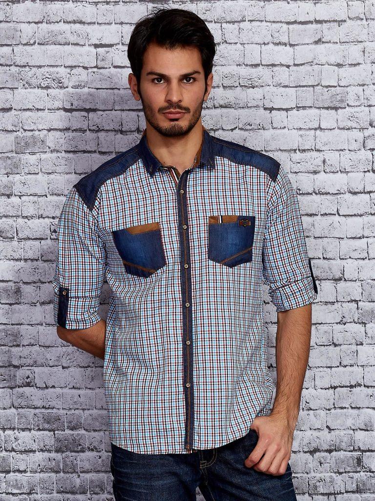 koszule męskie w kratę Rodzaje koszul męskich