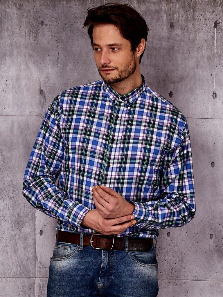 koszula w kratę męska