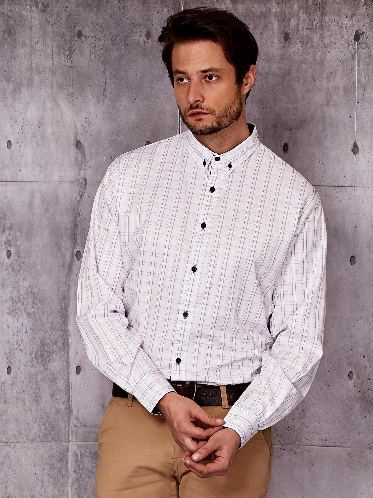 biała koszula męska