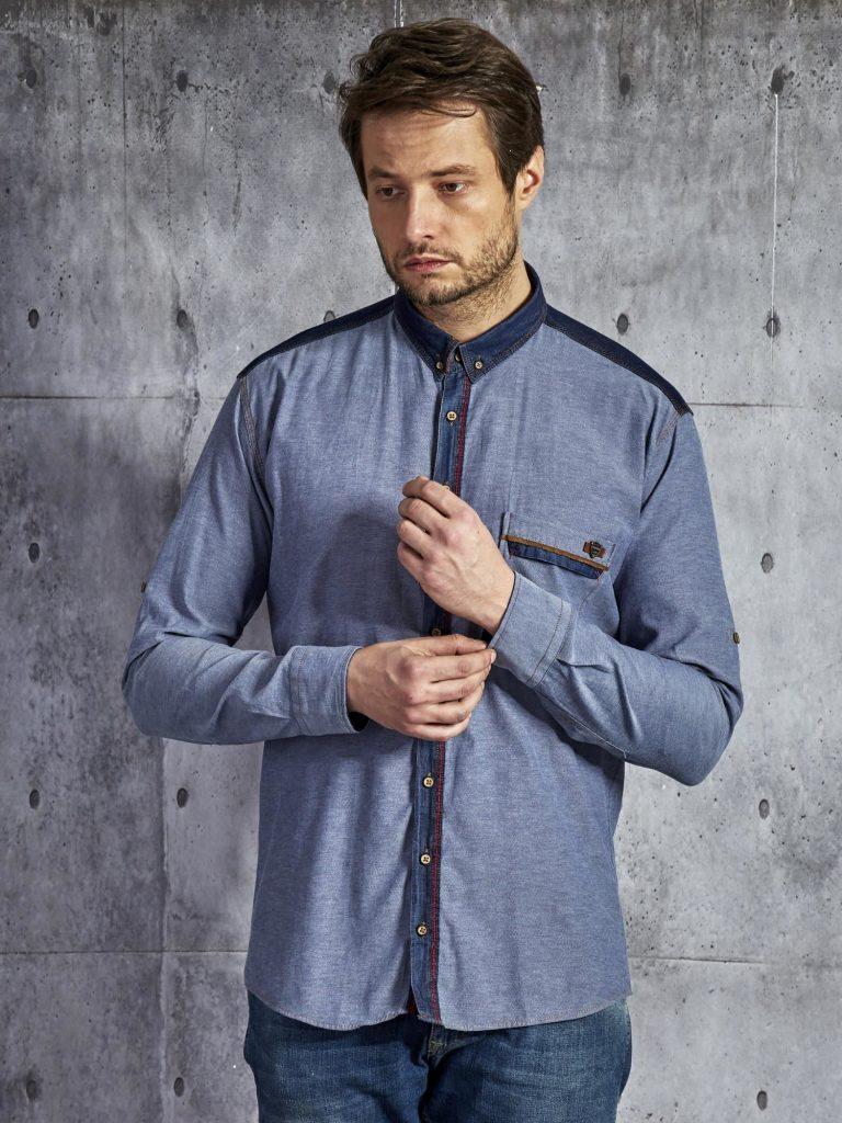 denimowe koszule męskie