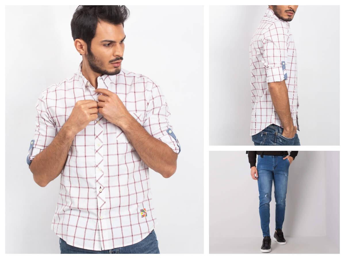 komplety męskie koszula i spodnie